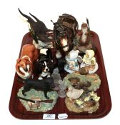 Beswick dogs Collie and King Charles Spaniels together with various country artists and other Border