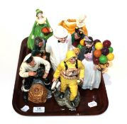 A collection of Royal Doulton figures comprising Lobster man HN2323, Lifeboat man HN2764, Winston