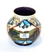 A Moorcroft 'Wuthering Heights' vase. First quality. 14.5cm high. Good condition.