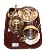 Various silver including two Armada dishes, a lidded sucrier, a cream jug, a twin handled bowl, a