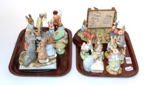 A group of Beswick and Border Fine Arts, Beatrix Potter Peter Rabbit figures and figure groups (