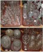 Cut glass including dishes, decanters etc
