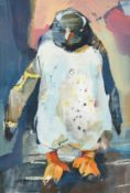 Claire Harkess (b.1970) Scottish ''Wee Penguin'' Signed, gouache, 26cm by 18cm Artist's Resale