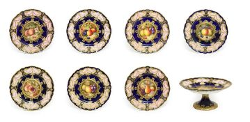 A Composite Royal Worcester Porcelain Dessert Service, by Richard Sebright, William Bee and Frank