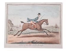 [Gillray (James)] 'A View of the Pier of Scarborough', H. Humphrey, June 18th 1807, hand-coloured