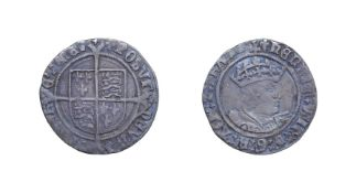 Henry VIII, 1526 Groat. 2.57g, 24.3mm, 2h. Mintmark lis, second coinage. Obv: Young head facing