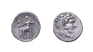 Alexander III, The Great, Silver Tetradrachm, 336 - 323 B.C. Lifetime issue. 17.16g, 26.5mm, 1h.