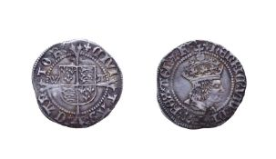 Henry VIII, 1509 - 1526 Halfgroat. 1.57g, 21.2mm, 6h. Mintmark lis, Canterbury, first coinage,