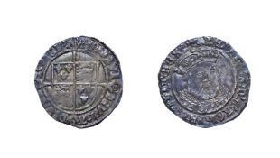 Edward VI in the Name of Henry VIII, 1547 Groat. 2.45g, 25.08mm, 2h. Mintmark lis, Early posthumus