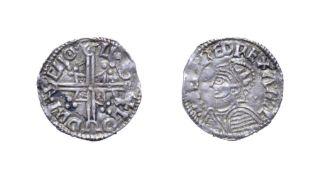 Aethelred II, 978 - 1016, London Mint Penny. 1.39g, 19.3mm, 3h. Helmet type, Godric at London.