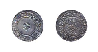Edward The Confessor, 1042 - 1046, London Mint Penny. 1.11g, 18.9mm, 4h. Facing bust/small cross