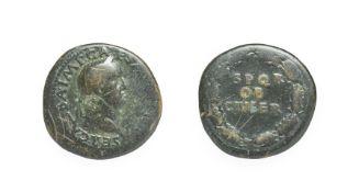 Galba, Brass Sestertius. Rome, July - August 68 A.D. 23.12g, 35.1mm, 6h. Obv: SER GALBA IMP CAES