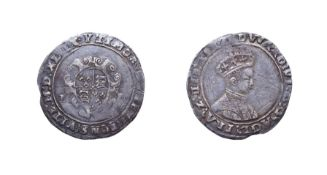 Edward VI, 1549 - 1550 Shilling. 4.36g, 30.4mm, 10h. Mintmark Y, second period, second issue. Obv: