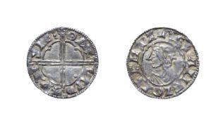 Cnut, 1016 - 1035, London Mint Penny. 1.03g, 18.7mm, 9h. Quatrefoil type, Wynsige at London. Obv: