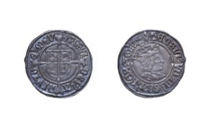 Henry VII, 1503 - 1509 Halfgroat. 1.53g, 21.6mm, 12h. Mintmark pheon, profile issue. Obv: Crowned