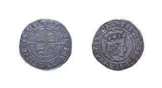 Henry VII, 1504 - 1505 Groat. 3.89g, 26.1mm, 7h. Mintmark cross-crosslet, profile issue. Obv: