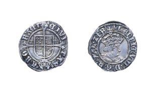 Henry VIII, 1514 - 1526 Halfgroat. Mintmark voided cross, York mint, second coinage. 1.31g, 20.