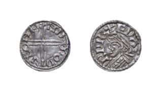 Edward The Confessor, 1042 - 1046, London Mint Penny. 0.61g, 14.5mm, 12h. Small flan type, Godric at