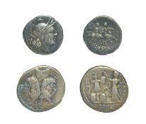 Roman Republic Silver Denarius, L. Furius L.f. Philus, 119 B.C. 3.83 grams, 19.1mm, 6h. Obv: M FOVRI