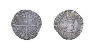 Henry VIII, 1526 Groat. 2.53g, 24.8mm, 12h. Mintmark rose, second coinage. Obv: Crowned bust