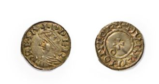Edward the Confessor, 1042 - 1066, York Mint Penny. 1.05g, 17.7mm, 8h. Obv: Radiate head facing
