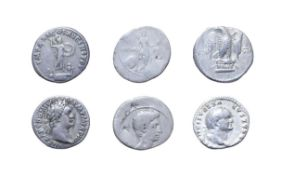 3 x Early Imperial Silver Denarii consisting of: Octavian, Rome 32 - 31 B.C. 3.60g, 20.4g, 7h.