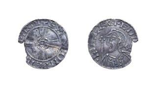Edward The Confessor, 1042 - 1046, Warwick Mint Penny. 1.43g, 19.2mm, 12h. Expanding cross type,