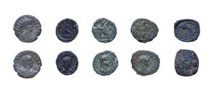 4 x Provincial Roman billion tetradrachms. consisting of: Nero, 54 - 68 A.D. Alexandria mint. 10.