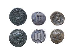 Bruttium, Kroton, Silver Stater, 480-430 B.C. 7.65g, 23.1mm, 12h. Obv: Tripod, legs terminating in