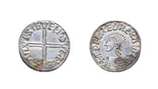 Aethelred II, 978 - 1016, Exeter Mint Penny. 1.70g, 20.1mm, 6h. Long cross type, Wulfsige at Exeter.