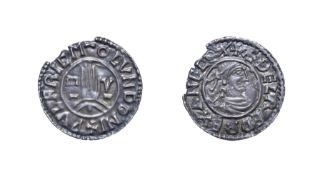 Aethelred II, 978 - 1016, London Mint Penny. 1.45g, 20.6mm, 9h. First hand type, Wulfric at