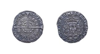 Henry VI, 1422 - 1430, Calais Mint Groat. 3.81g, 26.7mm, 12h. Annulet issue. Obv: Crowned bust