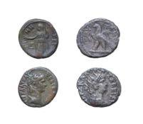 2 x Nero, Billon Tetradrachms, Egypt, Alexandria, 58-68 A.D. 12.79g, 25.4mm, 1h. Obv: Laureate