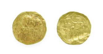 John II Comnenus, Gold Hyperpyron, 1118-1143 A.D. 4.19g, 31.1mm, 6h, Constantinople mint. Obv: