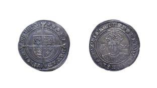 Edward VI, 1551 Shilling. 6.10g, 32.8mm, 8h. Mintmark y, third period, fine silver issue. Obv:
