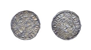 Cnut, 1016 - 1035, London Mint Penny. 1.01g, 19.2mm, 3h. Pointed helmet type, Leofwold at London.