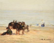 Mark Senior NPS (1864-1927) ''On the Sands'' Signed, signed, inscribed and dated 1912 in pencil