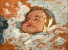 Alexander Jamieson (1873-1937) Scottish Study of a child's head - Portrait of Catherine Inscribed