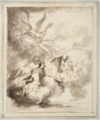 Attributed to Sir James Thornhill (1675-1734) A mythological arrangement of figures including a