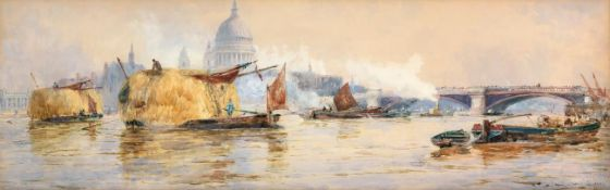 Thomas Bush Hardy RBA (1842-1897) ''St Paul's, London'' Signed, inscribed and dated (18)91,