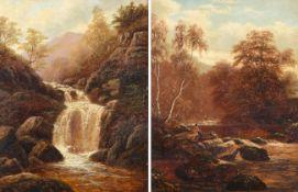 William Mellor (1851-1931) ''On the Greta, Rokeby'' ''Fall Near Ambleside, Westmoreland'' Each