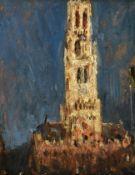 Alexander Jamieson (1873-1937) Scottish Bruges Cathedral Oil on board, 17cm by 13cm Provenance: