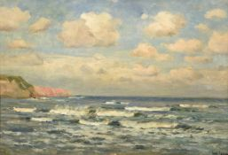 George Graham (1881-1949) Seascape Signed, oil on panel, 40cm by 55cm Artist's Resale Rights/Droit