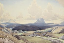 William Heaton Cooper RI (1903-1995) ''The Road to Lochinver'' Signed, inscribed and dated 1952 to