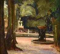 Alexander Jamieson (1873-1937) Scottish Tuileries Gardens, Paris Oil on panel, 29cm by 32.5cm