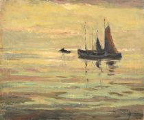 Aloysius O'Kelly (1853-1936) Irish ''Calme du Soir'' Signed, signed and inscribed verso, oil on