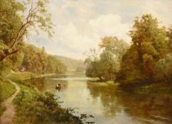 Edward Henry Holder (1847-1922) Boating scene on the Thames Signed, oil on board, 31cm by 43.5cm See