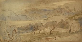 Edward Lear (1812-1888) ''Lago d'Iseo'' Signed and dated May 21, 1867, and extensively inscribed,