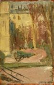 Alexander Jamieson (1873-1937) Scottish Tuileries Gardens, Paris Signed and dated 1897, oil on