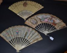 An 18th Century Ivory Fan, the monture Chinese Export, with some quite unusual features to the